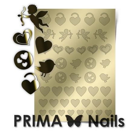 Prima Nails, Металлизированные наклейки LV-02, золото