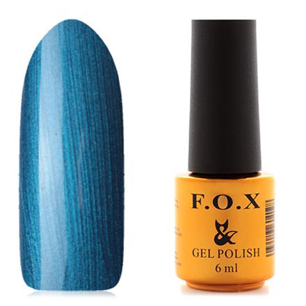 FOX, Гель-лак Pigment №030F.O.X<br>Гель-лак (6 мл) синий светлый, с перламутром, плотный.<br><br>Цвет: Синий<br>Объем мл: 6.00