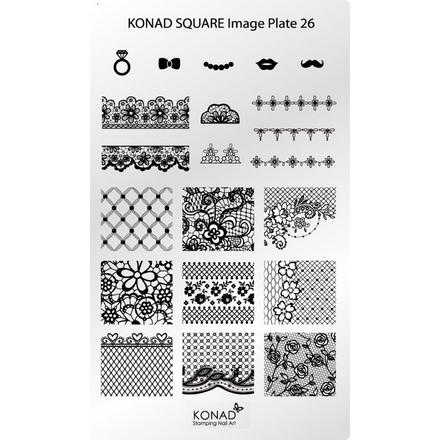 Konad, Пластина для стемпинга Square Image Plate 26 konad m88