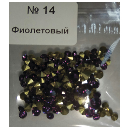 Купить KrasotkaPro, Стразы конусные, микс №14, фиолетовые