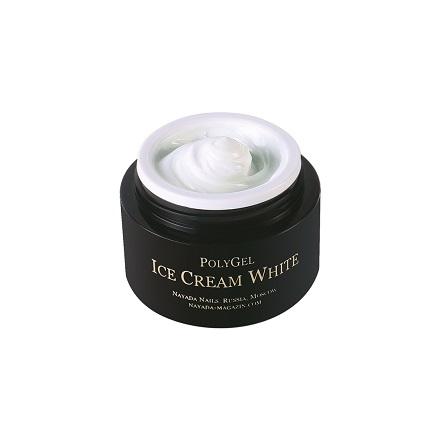 Купить Nayada, Полигель Ice Cream White, 20 г, Белый