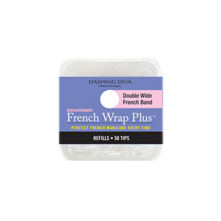 Dashing Diva, French Wrap Plus - White, Refill Size #6 (широкие)