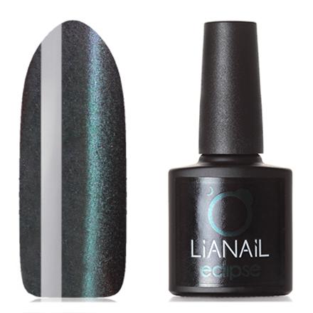 Lianail, Гель-лак Eclipse, Затмение МеркурияLianail<br>Магнитный гель-лак (10 мл) на  подложке черного цвета, с сине-зелеными/пурпурными микроблестками, полупрозрачный.