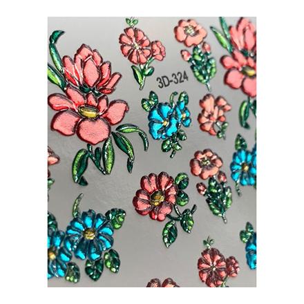 AnnaTkacheva,3D-слайдерCrystal№324 «Цветы. Цветочки» фото