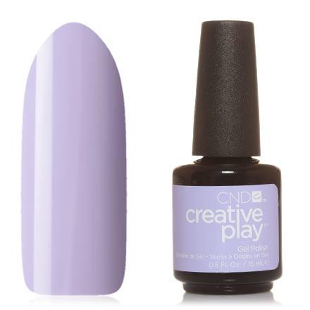 CND, Creative Play Gel №505, Barefoot bashCND<br>Гель-лак (15 мл) пастельный сиреневый, без перламутра и блесток, плотный.
