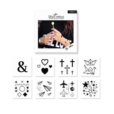 Miami Tattoos, Комплект преводных тату Symbols, 8 шт. фото