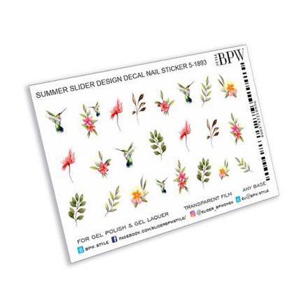 Купить BPW.style, Слайдер-дизайн «Цветы и колибри» №sd5-1893