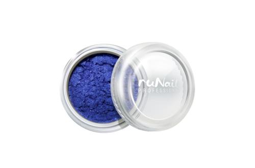 ruNail, Пигмент №1160, синий, перламутровыйПигмент<br>Цветной пигмент для дизайна ногтей и создания новых цветов и оттенков (9 г).