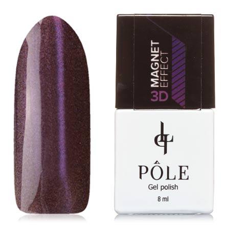 POLE, Гель-лак 3D №4, ФиолетовыйPOLE<br>Магнитный гель-лак (8 мл) на прозрачной подложке черного цвета, с фиолетовыми/розовыми микроблестками, полупрозрачный.<br><br>Цвет: Фиолетовый<br>Объем мл: 8.00