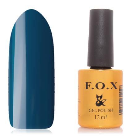 FOX, Гель-лак Gradient №009F.O.X<br>Гель-лак (12 мл) зеленовато-синий, без перламутра и блесток, полупрозрачный.<br><br>Цвет: Синий<br>Объем мл: 12.00
