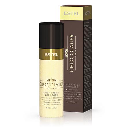 Estel, Спрей-сияние для волос Chocolatier, 100 млСпреи для волос <br>Спрей для волос с молочными протеинами и мерцающими пигментами.<br><br>Объем мл: 100.00