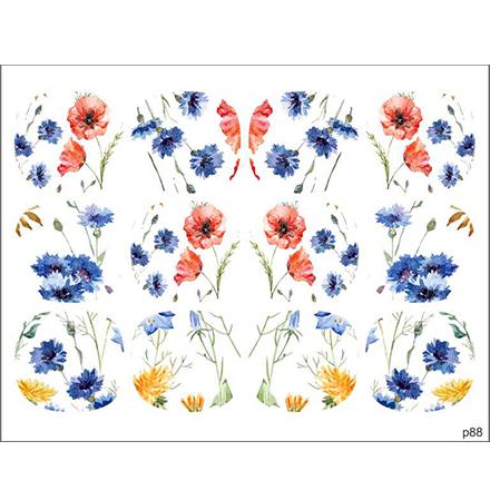 BPW.Style, Слайдер-дизайн «Полевые цветы» №p88, для педикюра  - Купить