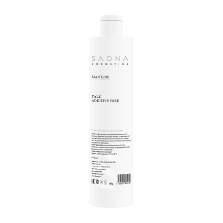 Saona Cosmetics, Тальк для мужской депиляции без отдушек и добавок, 160 г