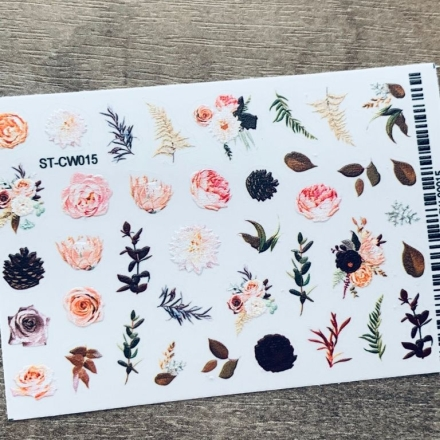 Купить Anna Tkacheva, Стикер ST-CW №015 «Цветы. Веточки»