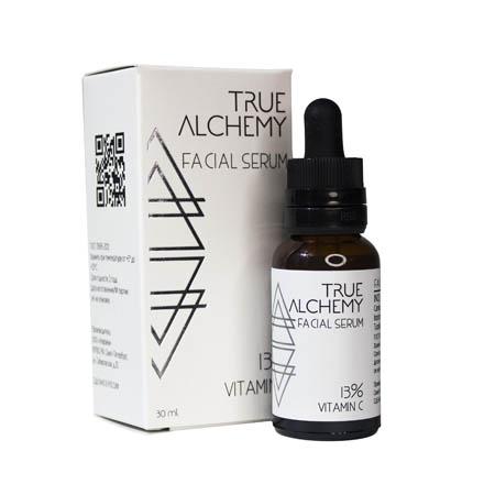 True Alchemy, Сыворотка для лица Vitamin C 13%, 30 млСыворотки для лица<br>Сыворотка для отбеливания кожи.