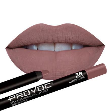 Provoc, Гелевая подводка-карандаш для губ №38, Barely There, цвет светло-кофейный