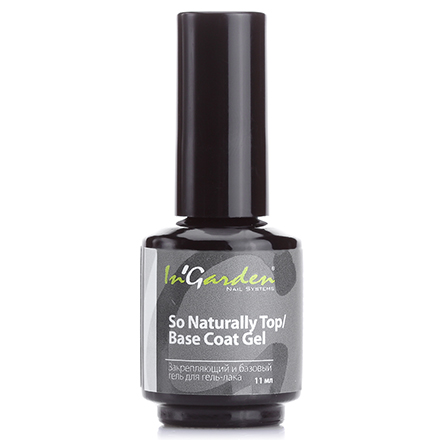 In'Garden, Base/Top Coat So Naturally, База и Топ, 11 мл от KRASOTKAPRO
