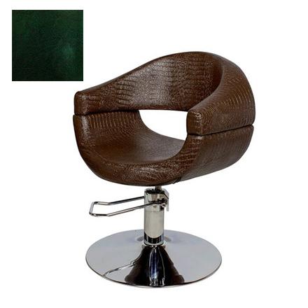 Купить Мэдисон, Кресло парикмахерское «МД-108» гидравлическое, хромированное, изумрудно-черное
