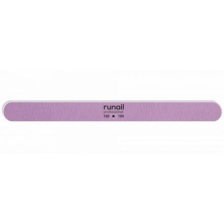 Купить RuNail, Пилка для искусственных ногтей, сиреневая, закругленная, 150/180