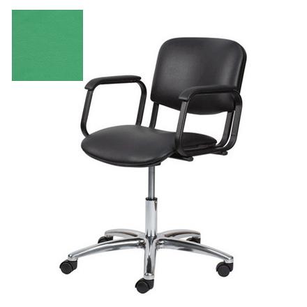 Купить Мэдисон, Кресло парикмахерское «Контакт» пневматическое, хромированное, зеленое