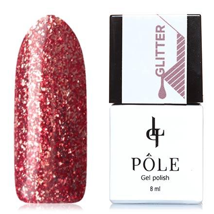 POLE, Гель-лак №10, БургундскийPOLE<br>Гель-лак (8 мл) темный коричнево-красный, с серебристой фольгой, плотный.<br><br>Цвет: Красный<br>Объем мл: 8.00
