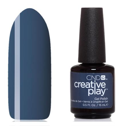 CND, Creative Play Gel №512, Denim dateCND<br>Гель-лак (15 мл) джинсовый синий, без перламутра и блесток, плотный.