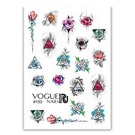 Купить Vogue Nails, Слайдер-дизайн №153