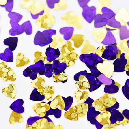Patrisa Nail, Камифубуки «Сердечки» №К91, микс, голографияКамифубуки<br>Камифубуки для дизайна ногтей (5 г). Цвета: золотой, фиолетовый.