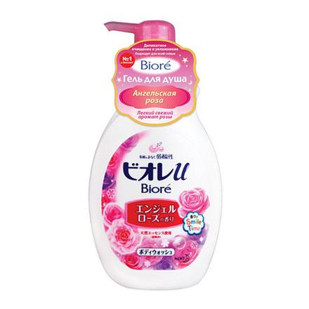 Biore, Гель для душа «Ангельская роза», 530 мл косметика для мамы vitamin гель для душа 5 ягод 650 мл