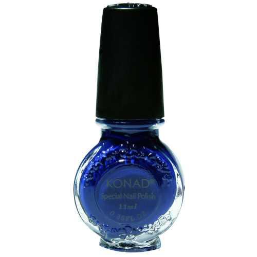 Konad, лак для стемпинга, цвет Blue 11 ml (синий) недорого