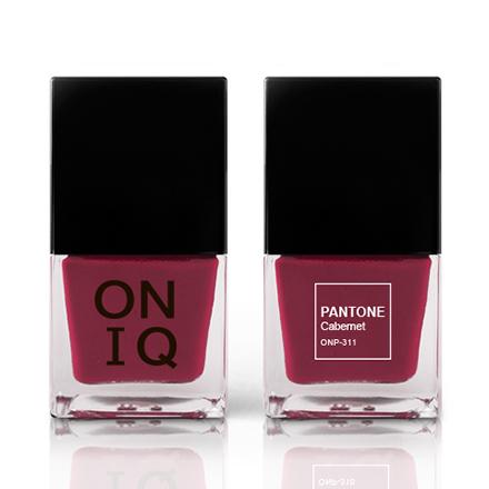 Купить ONIQ, Лак для ногтей Pantone, Cabernet, Красный