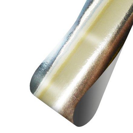 Patrisa nail, Фольга для дизайна (глянцевая серебряная), 60 см