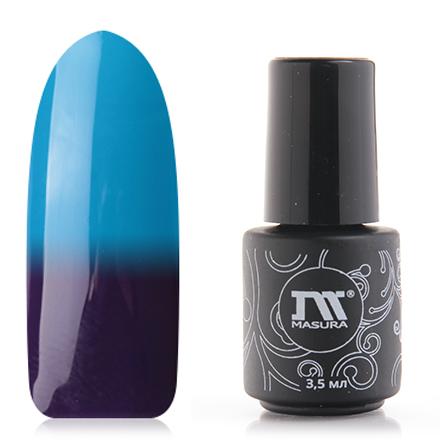 Masura, Гель-лак Термо №294-245M, Голубая лагунаMasura трехфазный шеллак<br>Гель-лак термо (3,5 мл) индиго/ ярко-голубой, без перламутра и блесток, плотный.<br><br>Цвет: Фиолетовый<br>Объем мл: 3.50