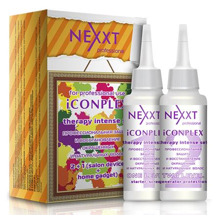 NEXXT professional, Набор iComplex, 1 и 2 уровень, 125 мл+125 млСыворотки для волос <br>Комплекс из двух средств для профессиональной защиты и восстановления окрашенных и натуральных волос.