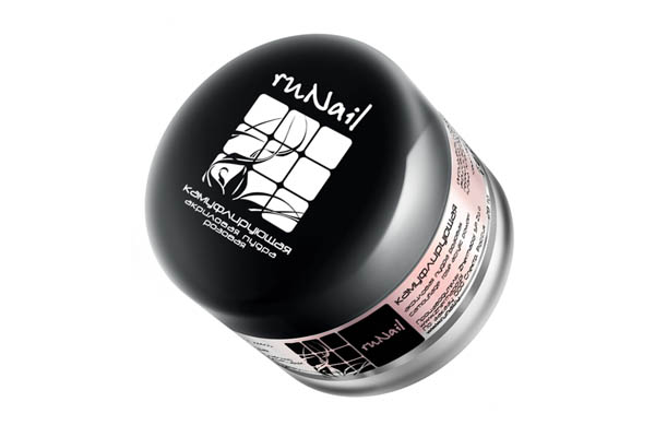 ruNail, акриловая пудра (камуфлирующая розовая), 28 гр planet nails пудра быстросохнущая камуфлирующая розовая 45 г