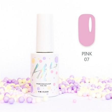 Купить HIT Gel, Гель-лак Pink №07, Розовый