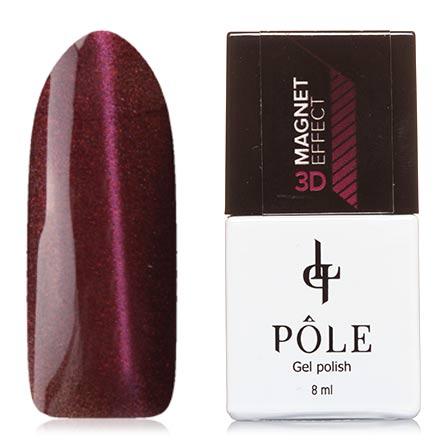 POLE, Гель-лак 3D №5, ФуксияPOLE<br>Магнитный гель-лак (8 мл) на прозрачной подложке коричневого цвета, с микроблестками цвета фуксии, полупрозрачный.<br><br>Цвет: Фиолетовый<br>Объем мл: 8.00