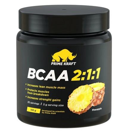 Prime Kraft, Аминокислоты BCAA 2:1:1 «Ананас», 150 г prime kraft аминокислоты bcaa 2 1 1 персик и маракуйя 150 г
