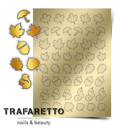 Купить Trafaretto, Металлизированные наклейки FL-04, золото