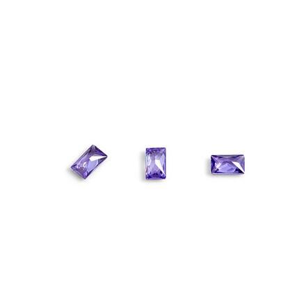 Купить TNL, Кристаллы «Багет» №3, фиолетовые, 10 шт., TNL Professional