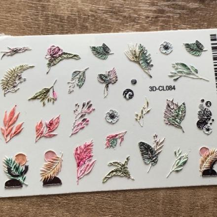 Купить AnnaTkacheva, 3D-стикер CL №084 «Веточки. Листья», Anna Tkacheva