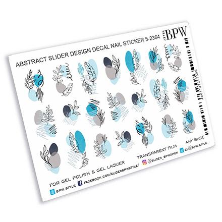Купить BPW.Style, Слайдер-дизайн «Абстрактный голубой», №5-2364