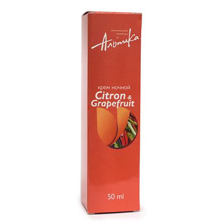 Купить Альпика, Крем для лица Citron/Grapefruit, ночной, 50 мл