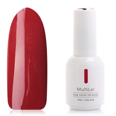ruNail, Гель-лак MultiLac, Лесной ПожарRuNail professional<br>Однофазный гель-лак (15 мл) приглушенный красный, без перламутра и блесток, плотный.<br><br>Цвет: Красный<br>Объем мл: 15.00