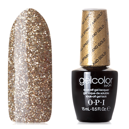 OPI GelColor, Гель-лак All Sparkly and Gold opi gelcolor гель лак i sea you wear opi gca73