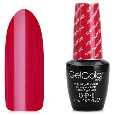 OPI GelColor, Гель-лак Big Apple Red N25