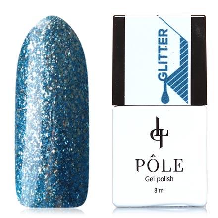 POLE, Гель-лак №40, Великолепный сапфирPOLE<br>Гель-лак (8 мл) сапфировый, с серебристой фольгой, плотный.<br><br>Цвет: Синий<br>Объем мл: 8.00