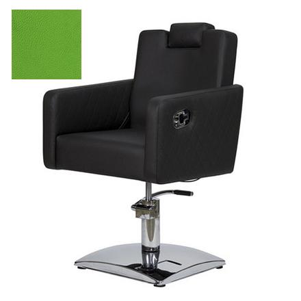 Купить Мэдисон, Кресло парикмахерское «МД-166» гидравлическое, хромированное, салатовое