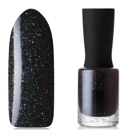 Masura, Лак для ногтей «Золотая коллекция», Ночной рейс, 11 млMasura<br>Лак (11 мл) сине-черный, с микроблестками голографик, плотный.