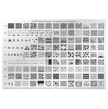 Konad, Пластина для стемпинга Demo Plate VПластины для стемпинга<br>Роскошные рисунки на ногтях с Demo Plate V от Konad, 212 неповторимых узоров на любой вкус.<br>